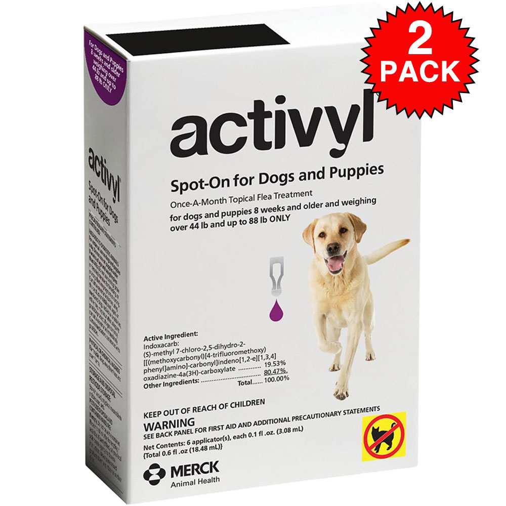Activyl Spot-On for Dogs is the first topical flea treatment to contain indoxacarb, an innocative active ingredient that activates using enzymes inside the flea. Once in contact with the parasites, Activyl's full flea-killing power is activated to eliminate all adult fleas and break the flea life cycle once and for all. The waterproof, fragrance-free formula keeps your kitty protected and itch-free for a full 4 weeks. Features innovative active ingredients and mode of action. Fast-acting. Starts killing fleas within 8 hours. Breaks the flea life cycle to prevent reinfestation Quick-drying and fragrance-free. Waterproof, remains effective after shampooing and bathing.