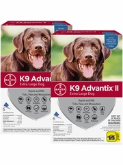 K9 Advantix II for Extra Large Dogs Over 55 lbs, 12 Month