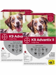 K9 Advantix II for Large Dogs 21-55 lbs, 12 Month