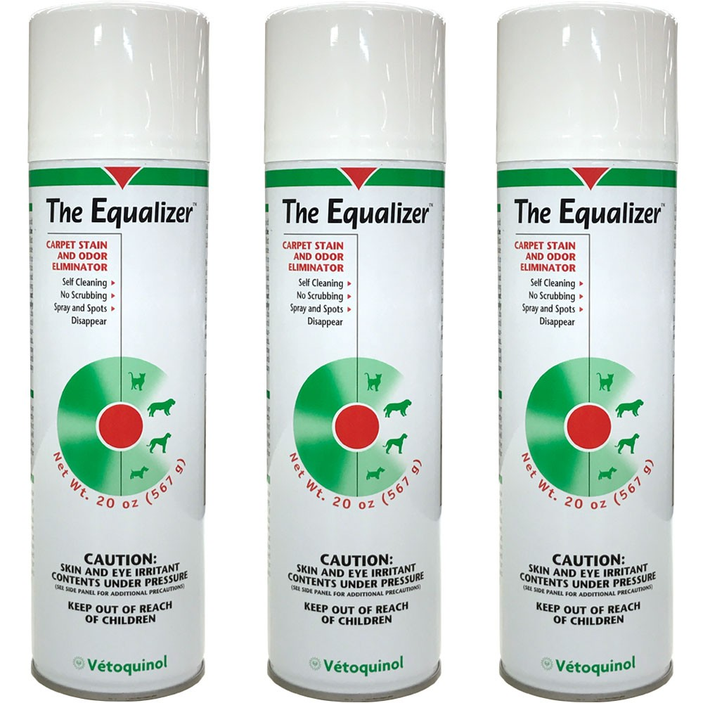 3-PACK The Equalizer Carpet Stain and Odor Eliminator (60 oz) + FREE Hair Magnet EQ14OZ-3PK