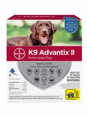 K9 Advantix II for Extra Large Dogs Over 55 lbs, 4 Month