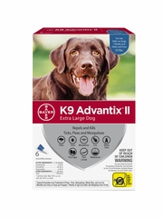 K9 Advantix II for Extra Large Dogs Over 55 lbs, 6 Month