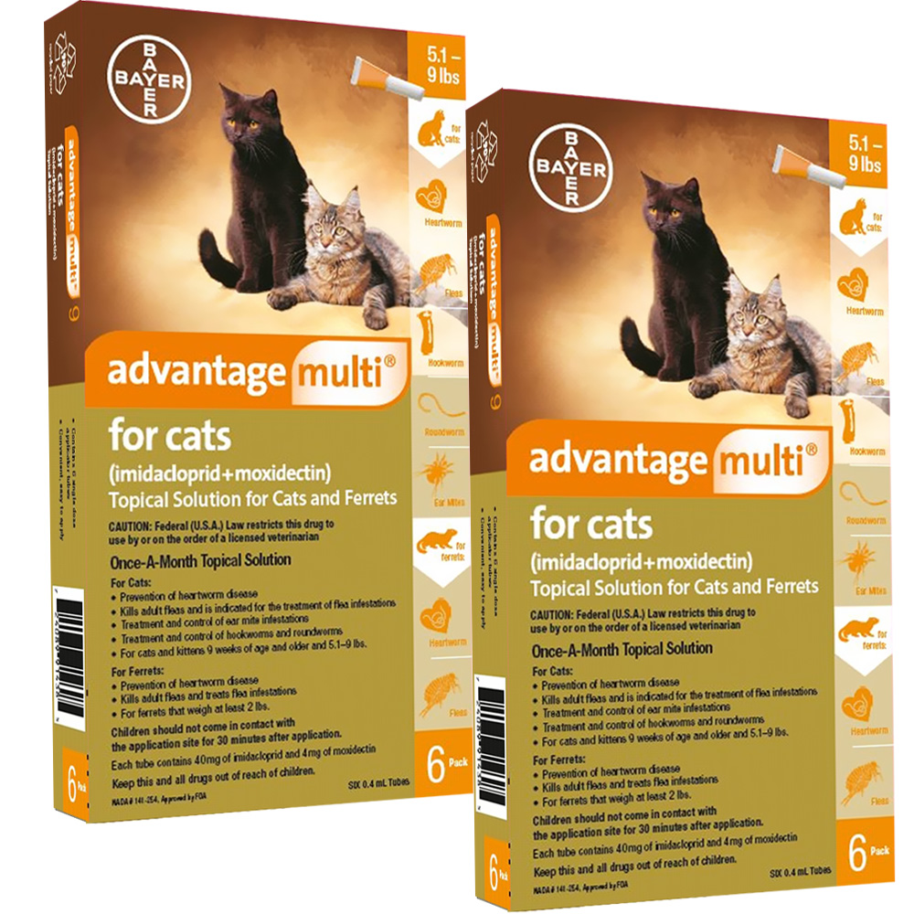 Advantage Multi For Cats 5 1 9 Lbs 12 Months