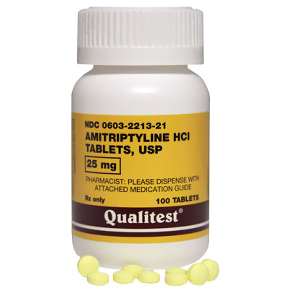 Amitriptyline 25 Mg 100 Tabs Manufacture May Vary
