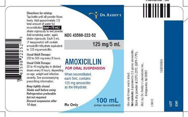 Amoxicillin Oral Suspension 125mg/5mL 100 ml Manufacture may vary