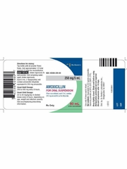 Amoxicillin Oral Suspension USP 250mg/5mL (80 ml) - Fruity Flavored (Manufacturer may vary)