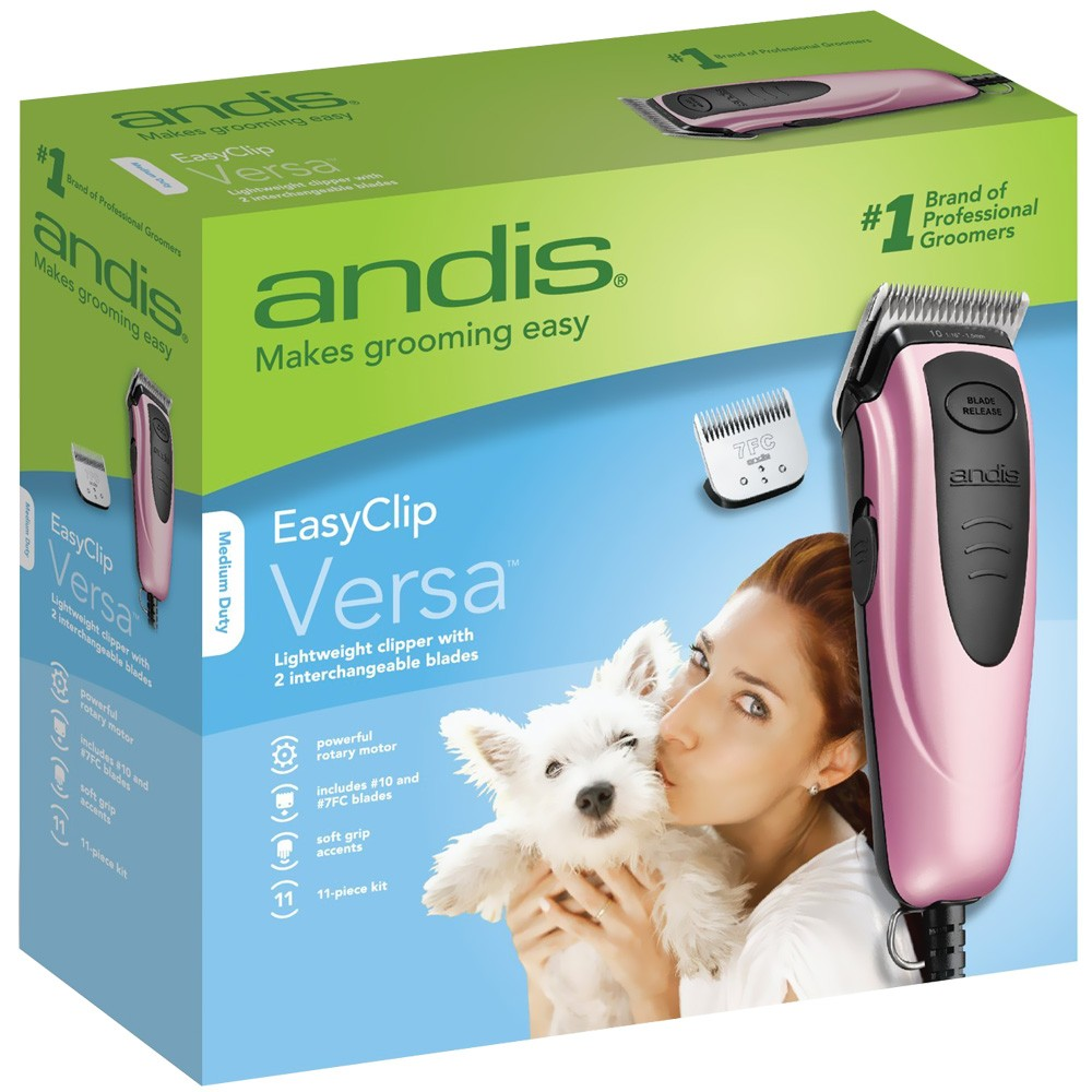 Andis EasyClip Versa Pet Clipper Kit (12 Pieces) EZ60105