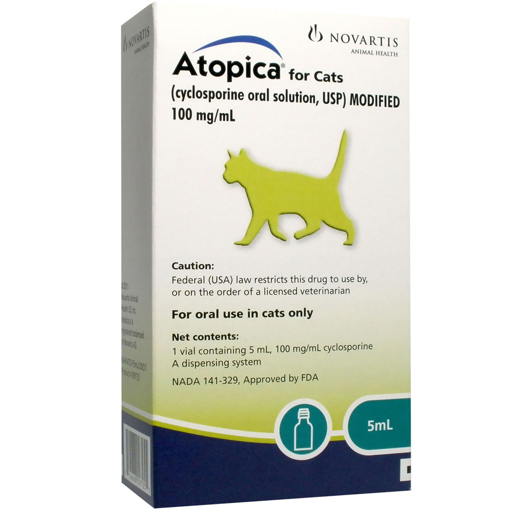 Atopica For Cats 100mg Ml 5ml