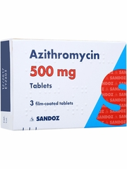 Azithromycin 500mg 3x3pack (9 tabs)