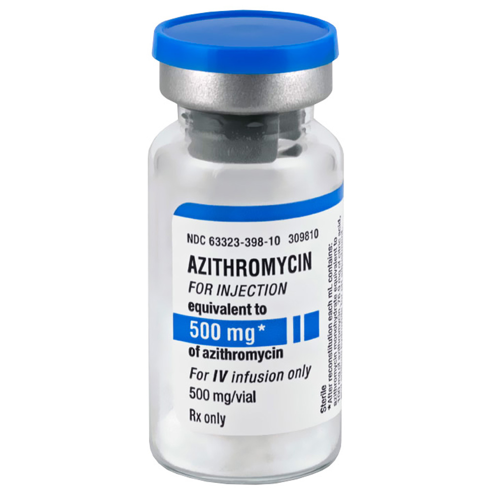 Azithromycin Inj 500mg By Generic Brand May Vary