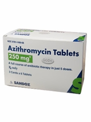 Azithromycin Tabs 250 mg Z-Pack 3x6 Tabs