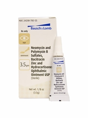 Bausch & Lomb NeoPoly Bac HC Ophthalmic Ointment 3.5gm (Manufacturer may vary)
