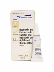 Bausch & Lomb NeoPoly Bac Ophthalmic Ointment 3.5gm (Manufacturer may vary)