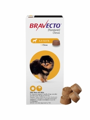 Bravecto for Dogs - 4.4-9.9 lbs (4 Chews)