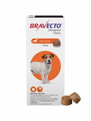 Bravecto for Dogs - 9.9-22 lbs (2 Chews)
