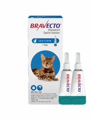 Bravecto Topical Solution for Cats 6.2 - 13.8 lbs (2 tubes)