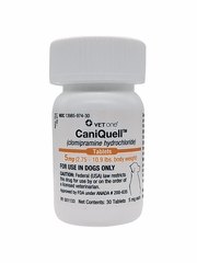 CaniQuell (Clomipramine Hydrochloride) 5mg (2.75-10.9 lbs) (30 tablets)