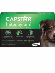 Capstar Flea Control for Dogs Over 25 lbs (6 Tablets)