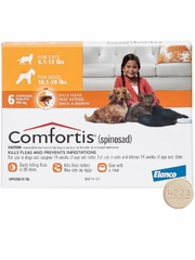 Comfortis for Dogs 10-20 lbs & Cats 6.1-12 lbs (Orange) - 6 Chew Tabs