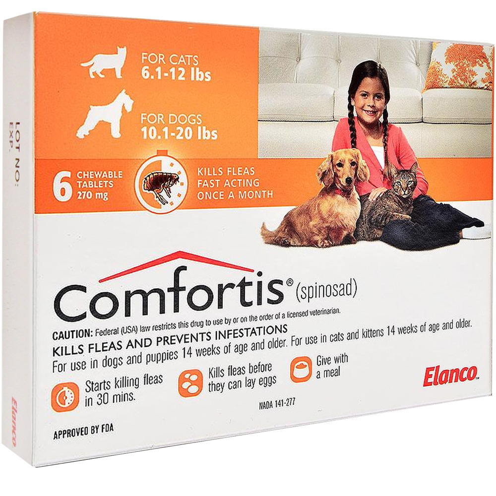 Comfortis For Dogs 10 20 Lbs Amp Cats 6 1 12 Lbs Orange