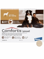Comfortis for Dogs 60-120 lbs (Brown) - 6 Chew Tabs
