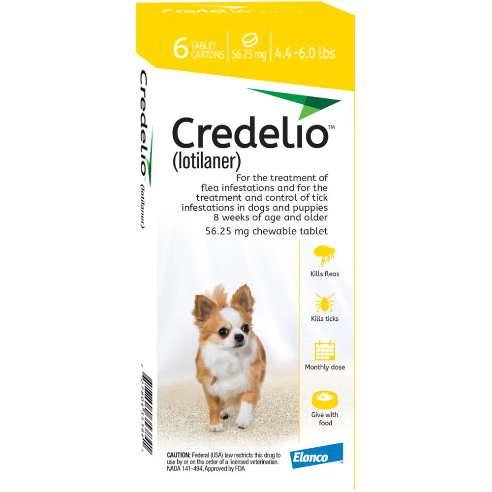 Credelio (lotilaner) - Flea & Tick Protection for Dogs