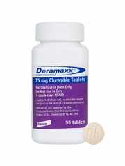 Deramaxx Chewable Tablets 75 mg, 90 Ct. with Free Joint Max TS