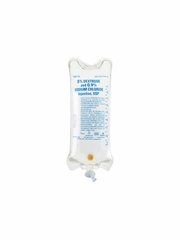 Dextrose 5% and 0.9% Sodium Chloride Inj USP LifeCare - (Plastic Bags) 12 x1000mL