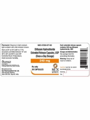Diltiazem ER 240mg (per capsule) (Manufacturer may vary)