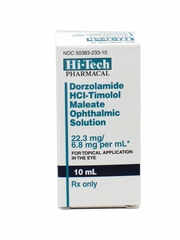 Dorzolamide HCl - Timolol Maleate Ophthalmic Solution 10ml