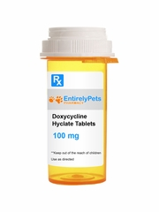 Doxycycline Hyclate 100mg (50 tabs) (Manufacturer may vary)