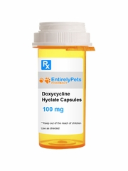 Doxycycline Hyclate 100mg (500 caps) (Manufacturer may vary)