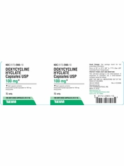 Doxycycline Hyclate 100mg (per cap) (Manufacturer may vary)