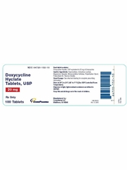 Doxycycline Hyclate 20mg (per tab) (Manufacturer may vary)