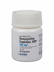 Doxycycline Monohydrate 100mg (per cap) (Manufacturer may vary)