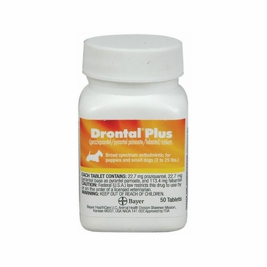 Drontal Plus Small 2-25lbs 22.7mg (Per Tablet)