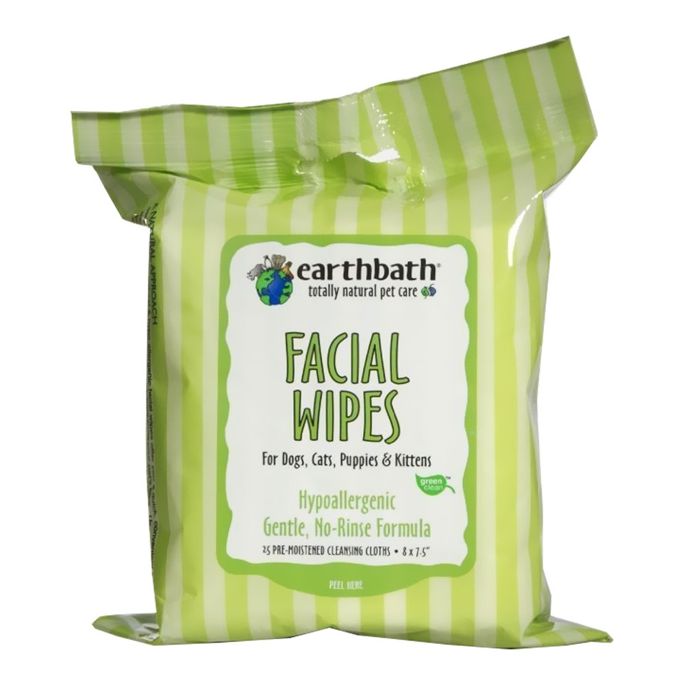 Earthbath Facial Wipes (25 count) PF7W