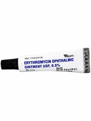 Erythromycin Opthalmic Ointment 0.5% (3.5 gm) (Manufacturer may vary)