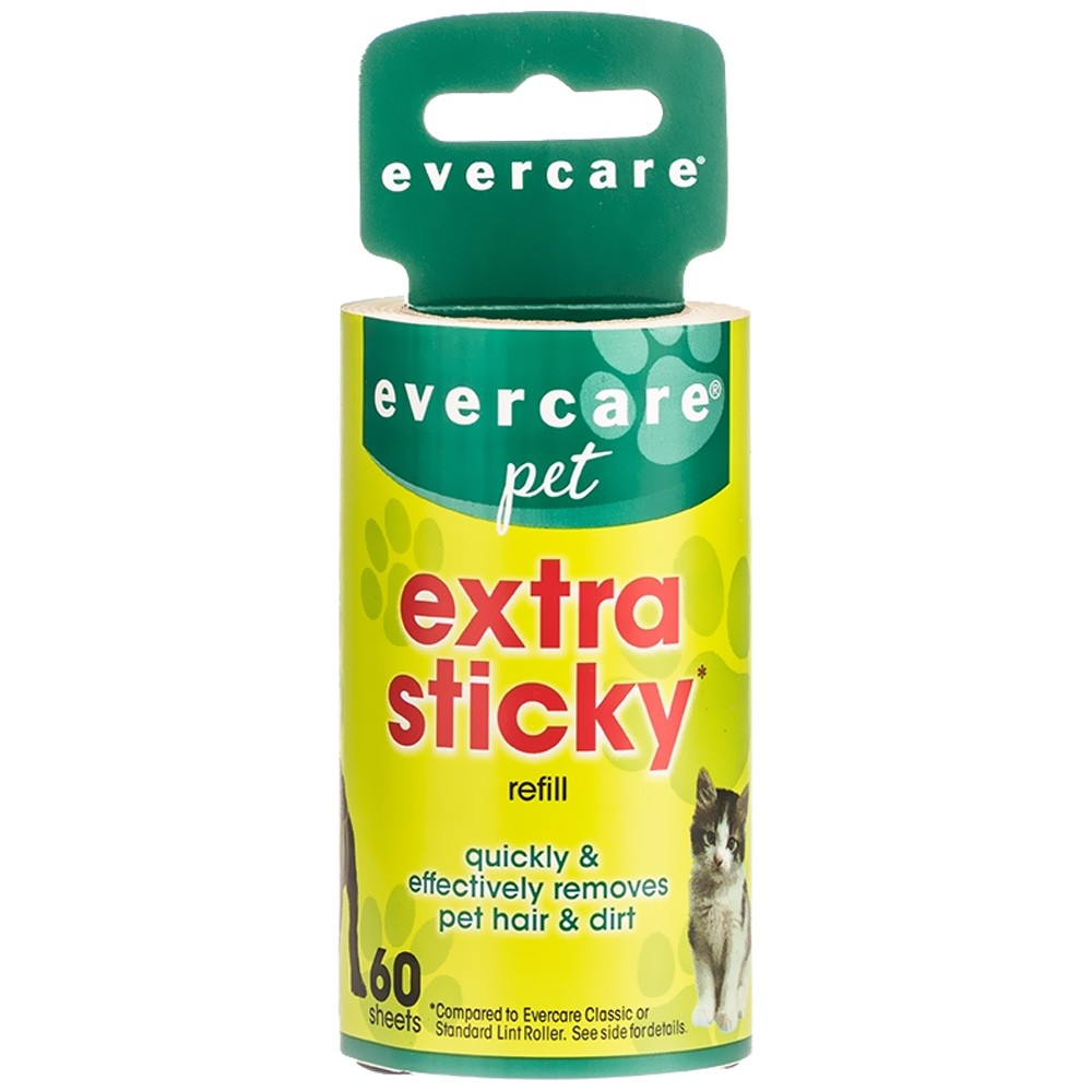 """Evercare Pet Hair Lint Roller Refill 60 layers (30.1 ftx4"""") 003532"""