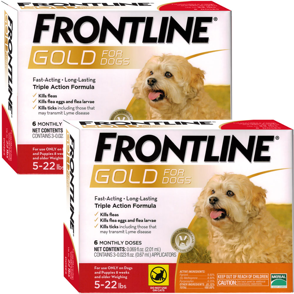 Frontline Gold For Dogs 5 22 Lbs Orange 12 Month