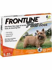 Frontline Plus for Dogs 0-22 lbs, 6 Month
