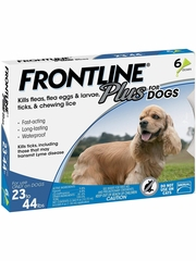 Frontline Plus for Dogs 23-44 lbs, 6 Month