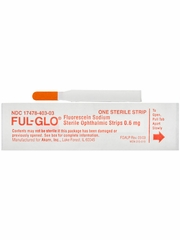 FUL-GLO Fluorescein Sodium Strips 0.6mg (300 count)