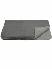 Furhaven Snuggly & Warm Pet Throw (Faux Lambswool/Terry)