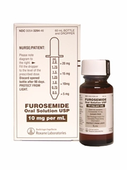 Furosemide Oral Solution 10mg/ml (60ml) (Manufacturer may vary)