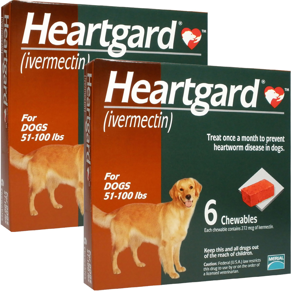 Heartgard For Dogs 51 100 Lbs 12 Chews