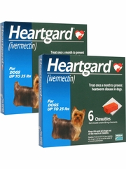 Heartgard for Dogs up to 25 lbs (12 Chews)