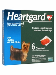 Heartgard for Dogs up to 25 lbs (6 Chews)