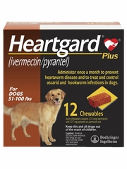 Heartgard Plus for Dogs - 51-100 lbs (12 Chews)