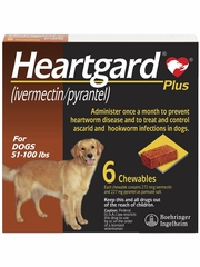 Heartgard Plus for Dogs - 51-100 lbs (6 Chews)